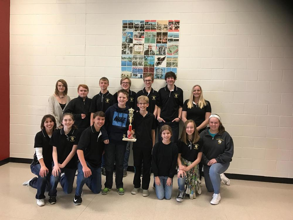 Junior High Quiz Bowl Places 2nd