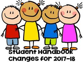 Changes to the student handbook